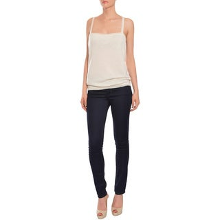 Emanuel Ungaro Women's Ivory Fine Knit Tank Top