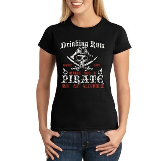 Women's Rum Drinking Pirate T-shirt