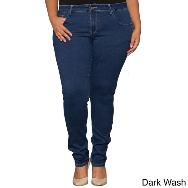 Sealed With a Kiss Women's Plus Size Classic Skinny Jeans