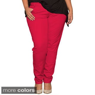 Sealed With a Kiss Women's Plus Size 'Shannon' Skinny Pants