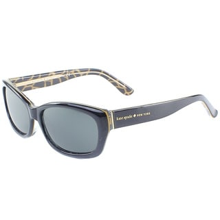 Kate Spade Women's 'Ginnie X30P' Black Giraffe Polarized Plastic Sunglasses