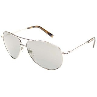 Cole Haan Unisex 'CO 736 50' Silver Metal Aviator Sunglasses