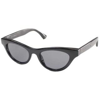 Isaac Mizrahi Women's 'IM 4 10' Black Cat Eye Plastic Sunglasses