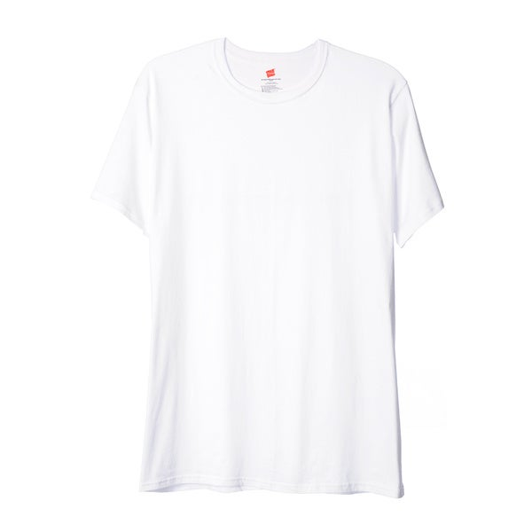 Hanes Men's Big & Tall White Crew Neck T-shirts (Pack of 3)