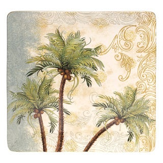 Hand-painted Key West 14.25-inch Square Ceramic Serving Platter