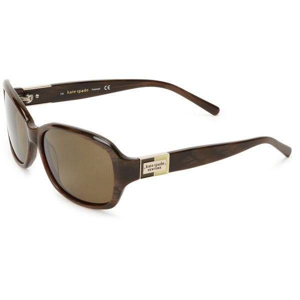 Kate Spade Womens 'Annika 1Q8P' Brown Horn Polarized Sunglasses
