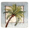 Hand-painted Key West 12.5-inch Square Ceramic Serving Platter
