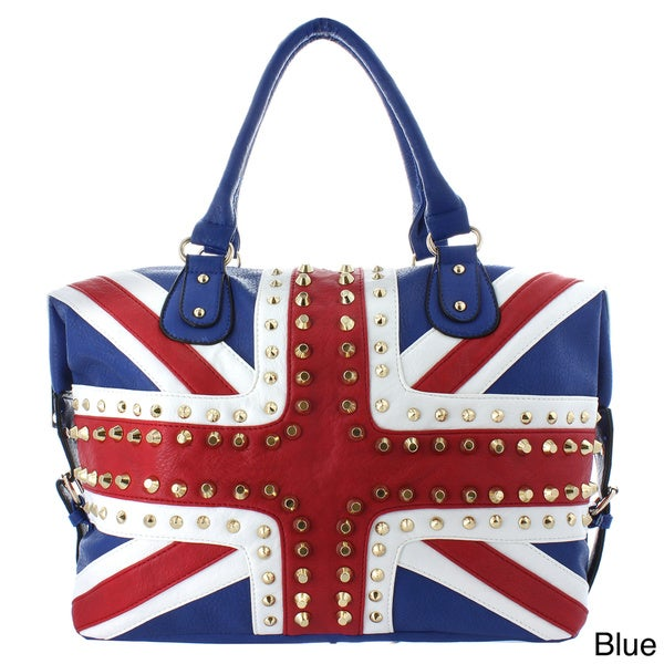 Oasis Handbag 'Gianna' Studded UK Flag Tote