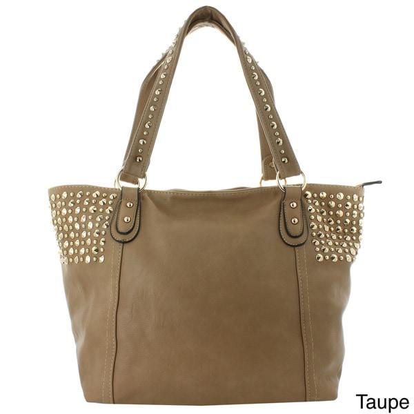 Oasis Handbag 'Flavia' Studded Panel Tote