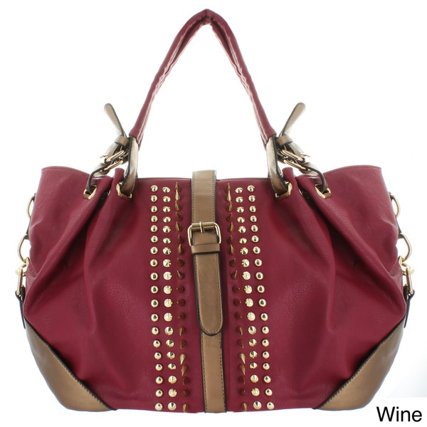 Oasis Handbag 'Briana' Sharp Studded Buckle Tab Tote