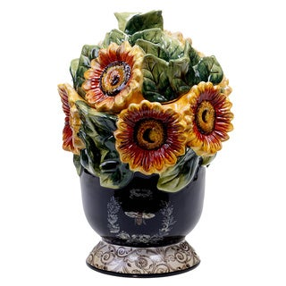 French Sunflowers 12-inch 3D Cookie Jar