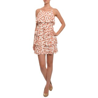 Moon Collection Women's Multicolored Bow Print Dress