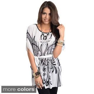 Stanzino Women's Silk Blend Caftan Blouse