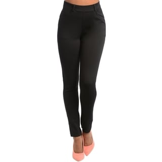 Stanzino Women's Black High-waist Stretch Pants