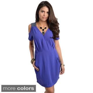 Stanzino Women's Off-shoulder Chiffon Dress