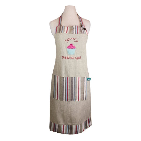Handmade 'Taste and See That The Lord is Good' Apron (India)