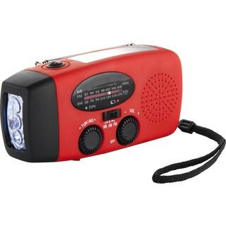 Solar Hand Crank Flashlight Radio