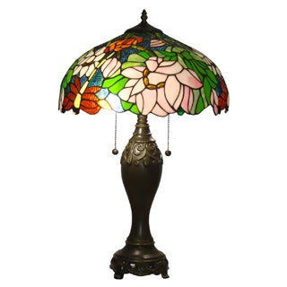 Amora Lighting Tiffany-style Floral Design Table Lamp