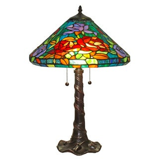 Amora Lighting Tiffany-style Roses Design Table Lamp