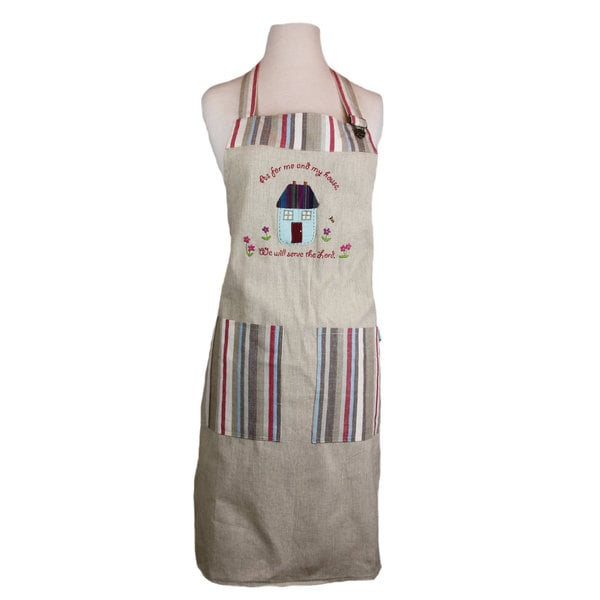 Handmade 'As For Me And My House We Will Serve The Lord' Apron (India)