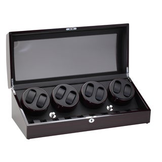 Diplomat Ebony Eight Watch Winder with Storage