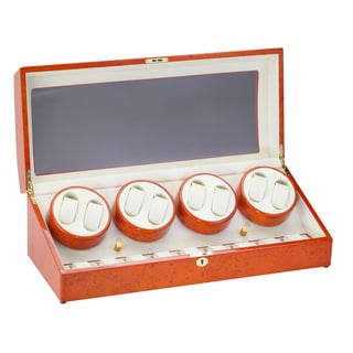 Diplomat Burlwood Eight Watch Winder with Storage