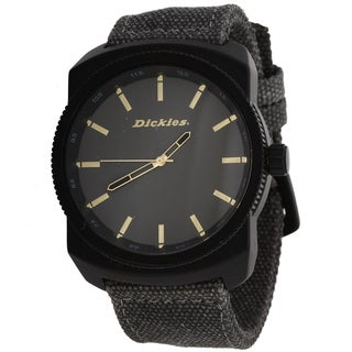 Dickies Men's Round Jumbo Grey Nylon Band Watch