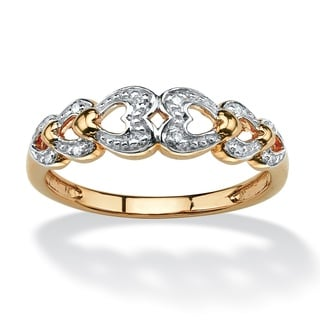 PalmBeach 10k Yellow Gold Diamond Accent Heart Ring