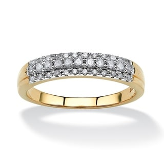 PalmBeach 10k Yellow Gold 1/4ct TCW Diamond Ring (H-I, I2-I3)