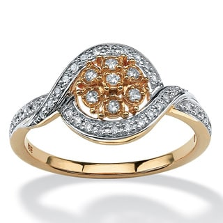 PalmBeach 10k Yellow Gold 1/6ct TDW Diamond Ring (H-I, I2-I3)