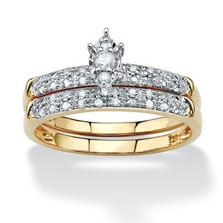 Isabella Collection 10k Yellow Gold 1/5ct TDW Two-piece Diamond Ring Set (H-I, I2-I3)