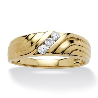 Isabella Collection 10k Yellow Gold Men's 1/5ct TDW Diamond Ring (H-I, I2-I3)
