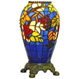 Amora Lighting 13-inch Tiffany-style Grapes Table Lamp