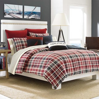 Nautica Mainsail Plaid Reversible Comforter Set with Optional Euro Sham Sold Separately
