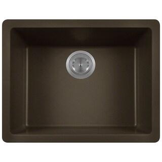 Polaris Sinks P808 Mocha AstraGranite Single Bowl Kitchen Sink