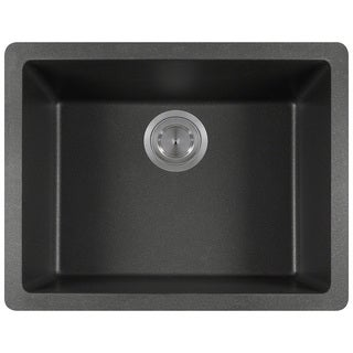 Polaris Sinks P808 Black AstraGranite Single Bowl Kitchen Sink
