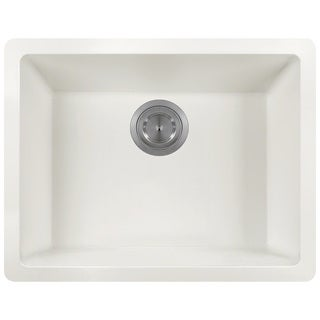 Polaris Sinks P808 White AstraGranite Single Bowl Kitchen Sink