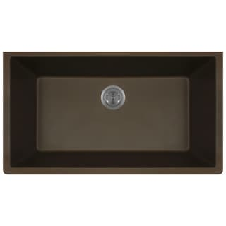 Polaris Sinks P848 Mocha AstraGranite Single Bowl Kitchen Sink