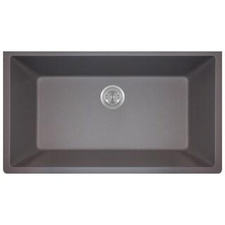Polaris Sinks P848 Silver AstraGranite Single Bowl Kitchen Sink