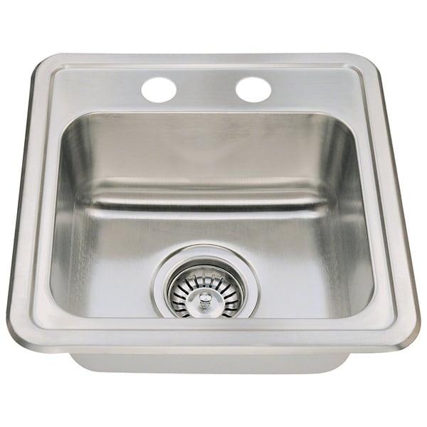 Stainless Steel Sink Cost : Polaris Sinks P5151T Topmount Single Bowl Stainless Steel Sink