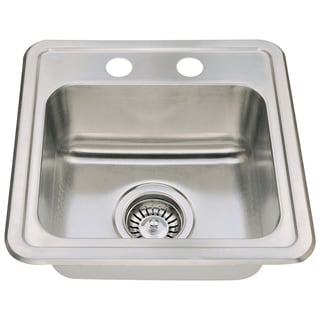 Polaris Sinks P5151T Topmount Single Bowl Stainless Steel Sink