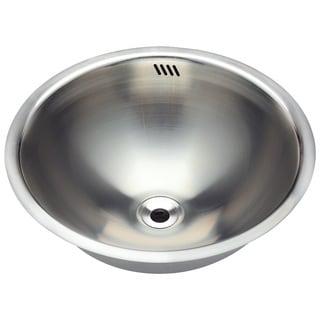 Polaris Sinks P024 Stainless Steel Bathroom Sink