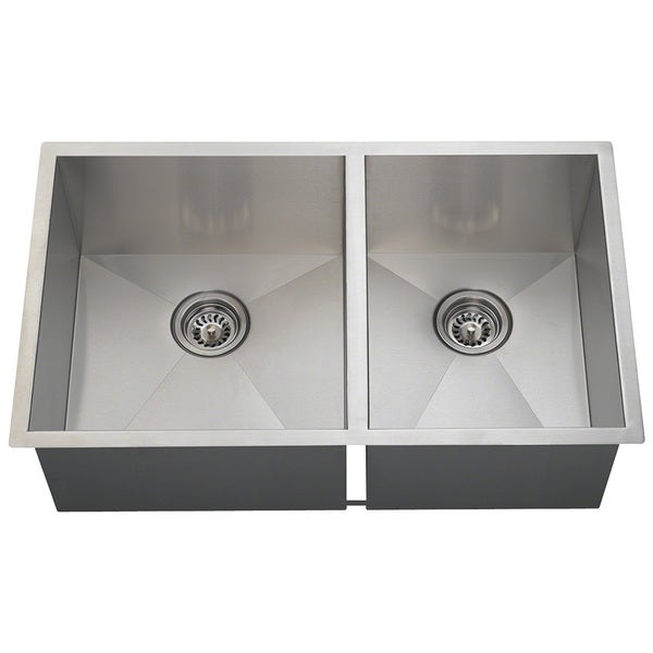 Polaris Sinks POL2233 90 Deg. Double Rectangular Stainless Steel Sink