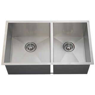Polaris Sinks POL2233 90 Deg. Double Rectangular Stainless Steel Sink