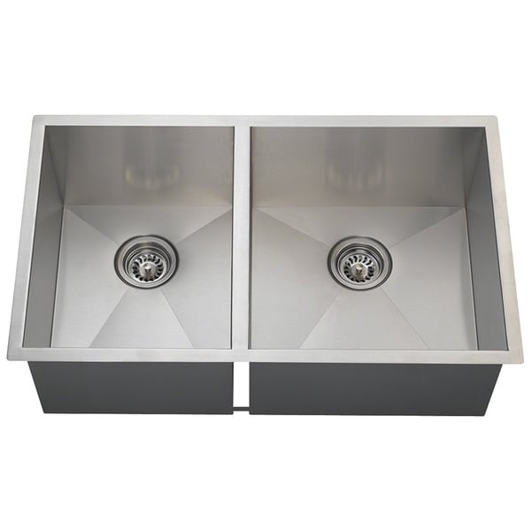 Polaris Sinks POR2233 90 Deg. Double Rectangular Stainless Steel Sink