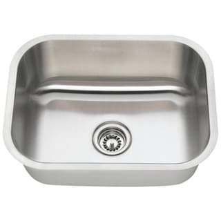 Polaris Sinks P8132-18 Single Bowl Stainless Steel Kitchen Sink