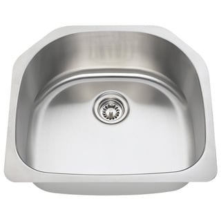 Polaris Sinks P1242-16 Single Bowl Stainless Steel Kitchen Sink