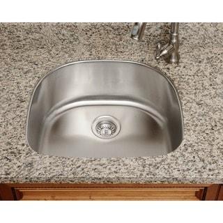 Polaris Sinks P1242-18 Single Bowl Stainless Steel Kitchen Sink