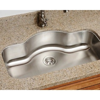 Polaris Sinks P9123 Single Bowl Stainless Steel Kitchen Sink