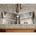 Polaris Sinks P335-18 Low Divide Angled Bowl Stainless Steel Kitchen Sink